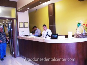 Reception Area of Dental Center in Algodones
