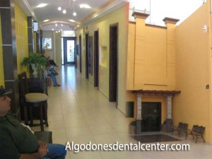 Waiting Area (left); Algodones Dental Center (right)